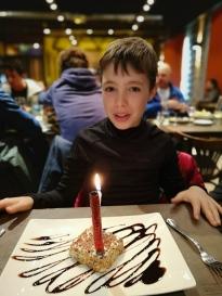 Dessert offert pour l'anniversaire d'Eliot