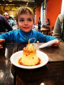 dessert offert pour l'anniversaire de Nathan