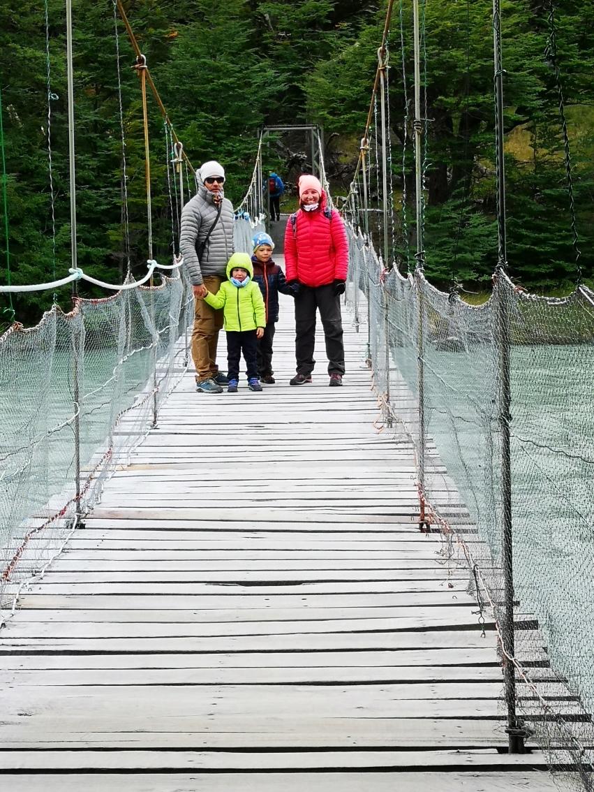 Pont suspendu torres del Paine
